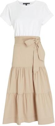 Veronica Beard Trails Cotton-Blend Midi Dress