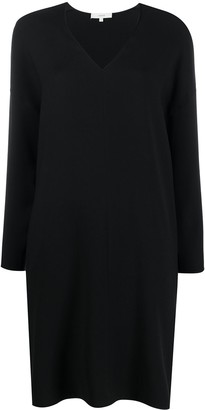 Vince V-Neck Loose-Fit Dress