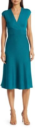 Victor Glemaud Cross-Back Merino Wool Dress