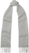 Johnstons of Elgin Fringed Cashmere Scarf - Stone