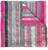 Armani Collezioni striped scarf - women - Silk/Cotton/Polyester/Linen/Flax - One Size