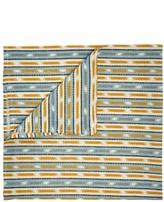 D'Ascoli Set Of Four Samarkand Striped Napkins - Blue Multi