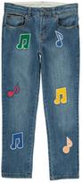 Stella McCartney Sale - Lohan Music Note Boyfriend Jeans