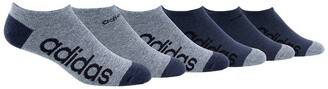adidas No Show Linear Logo Socks - Pack of 6