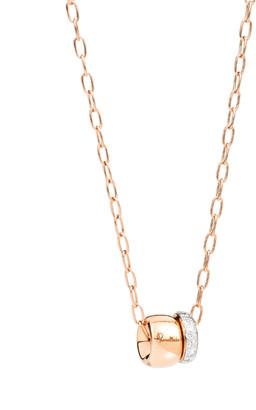Pomellato 18k Rose Gold ICONICA Pendant Necklace w/ Diamonds