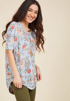 Best of Botanical Floral Top in Sky in S