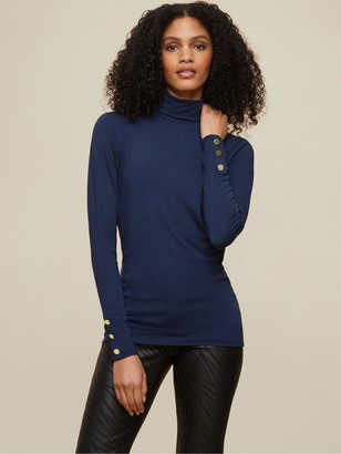 Dorothy Perkins Tall 2 Pack Roll Neck Top - Navy/Green
