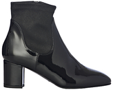 LK Bennett L.K.Bennett Shelley Block Heeled Ankle Boots, Black Patent Leather