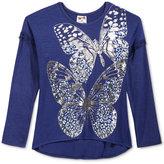 Belle Du Jour Butterfly Drop-Sleeve Sweater-Knit Top, Girls (7-16)
