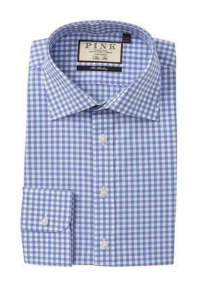 Thomas Pink Slim Fit Summers Check Print Dress Shirt