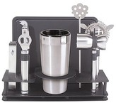Oggi 10 Piece Stainless Steel Bar Set with Stand