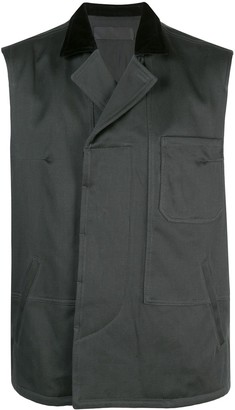 Haider Ackermann Quilted Contrasting Collar Vest