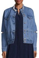 Public School Dani Collarless Denim Jacket
