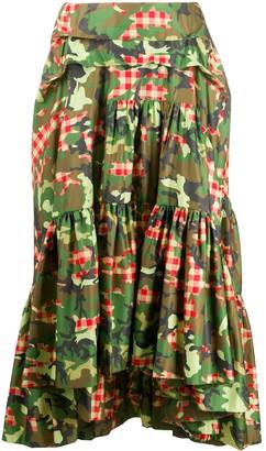 Molly Goddard Tara camouflage-print skirt