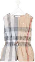 Burberry checkered playsuit - kids - Cotton - 6 yrs