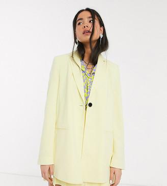 Collusion longline blazer in yellow