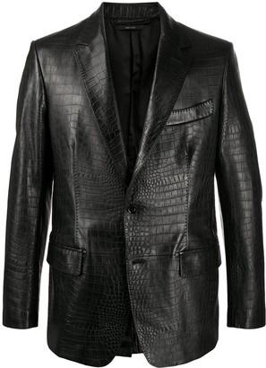 Tom Ford Croc-Effect Leather Jacket