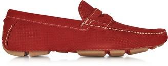 a. testoni Garofano Techno Suede Moccasin Shoe