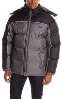 Avia Men's Front-Zip Color-Block Puffer Jacket with Detachable Hood