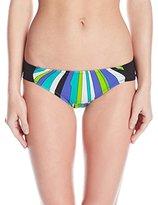 Trina Turk Women's Sunburst Shirred Hipster Bikini Bottom