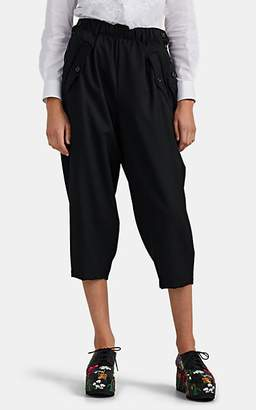 Comme des Garcons Women's Wool Pocket-Detailed Crop Pants - Black