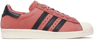 adidas Superstar Suede And Calf Hair-paneled Sneakers
