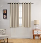 MYSKY HOME Solid Grommet top Thermal Insulated Window Blackout Curtain for Kids Bedroom, 52 by 63 inch, Beige (1 panel)