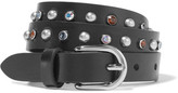 Isabel Marant Kerria Embellished Leather Belt - Black
