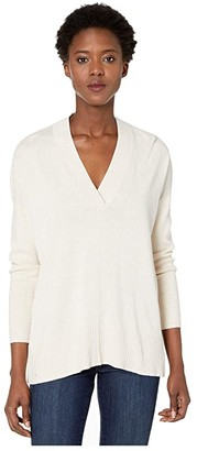 Lilla P Cotton Modal Shawl Collar Tunic Sweater (Sandstone) Women's Sweater