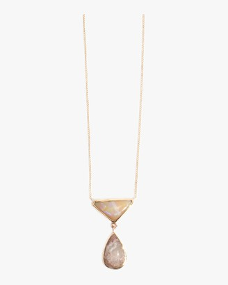 Melissa Joy Manning White Opal And Crystal Opal Necklace