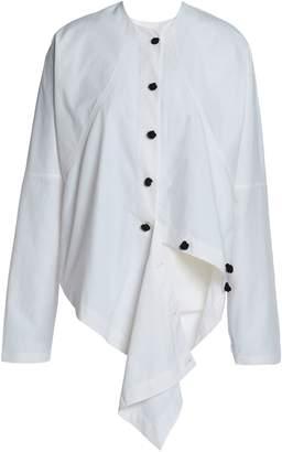 J.W.Anderson Draped Cotton-poplin Shirt