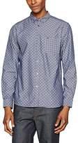 Merc of London Men's Newark, L/S Geo Print Chambray Casual Shirt