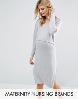 Mama Licious Mama.licious Mamalicious Nursing 2 In 1 Knitted Dress