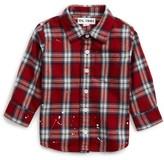 DL1961 Infant Girl's Plaid Shirt