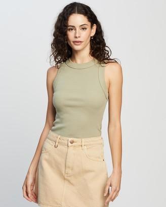 Neuw Women's Green Singlets - Jonesy Singlet - Size S at The Iconic