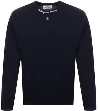 Vivienne Westwood Orb Long Sleeved T Shirt Navy