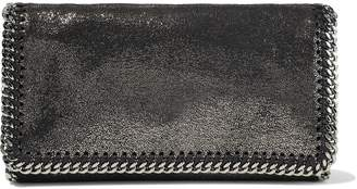 Stella McCartney Falabella Metallic Faux Brushed-leather Clutch