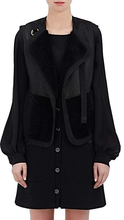 Chloé Women's Shearling & Leather Reversible Vest