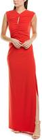 Halston High-Neck Gown