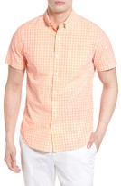 Bonobos Men's Slim Fit Gingham Short Sleeve Sport Shirt