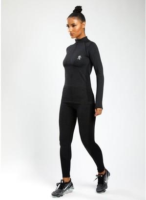 Gym King Sport Energy 1/4 Zip Top - Black Marl