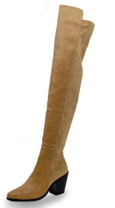 Chase & Chloe Classic Thigh-High Boot
