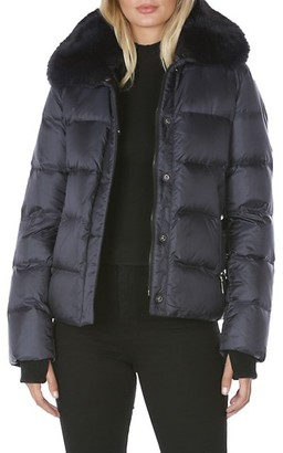 Dawn Levy Vera Fur & Down Puffer Coat