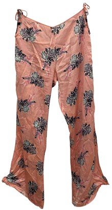 Chantal Thomass Pink Silk Trousers for Women