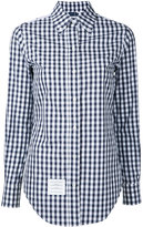 Thom Browne gingham and floral-print shirt - women - Cotton - 40