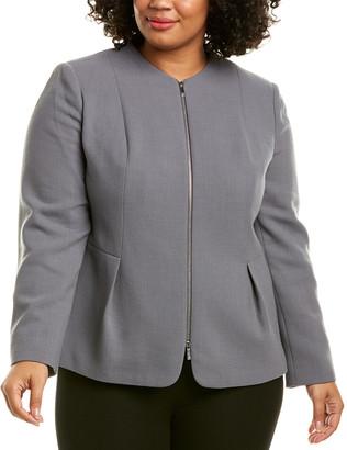 Lafayette 148 New York Plus Gwyneth Wool Jacket