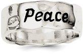 jewelryPot Sterling Silver Enamel, Hammered & Polished Ring