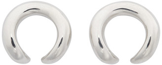 Sapir Bachar Silver Open Circle Earrings