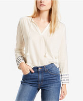 Levi's Cher Embroidered Peasant Top