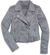Blank NYC Blanknyc Girls' Faux Suede Moto Jacket